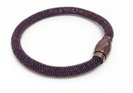 chocolate stainless steel mesh magnetic bracelet
