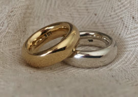 9ct yellow gold silver dress rings