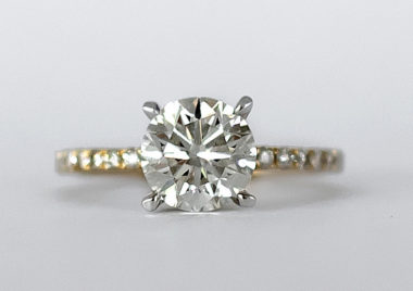 solitaire diamond ring with secret halo